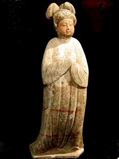Fine Tang Dynasty Fat Lady in The Alberto Manuel Cheung Gallery, New York City, on the Web -- Chinese Antiquities -- Tang Dynasty Pottery Figure of a Large Fat Lady