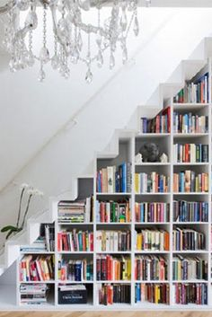 Staircase book cases
