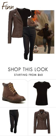 """""""Finn - Star Wars The Force Awakens"""" by ava-adams123 ❤ liked on Polyvore featuring Dr. Martens, Vince, Louis Vuitton, starwars and forceawakens"""