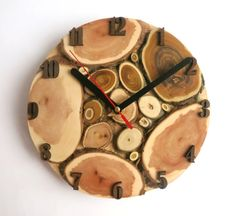 Large Wall clock natural tree slice tree slice wall by OlaDiClock
