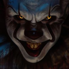 Clown Horror, Arte Horror, Horror Art, Horror Movies, Scary Clown Drawing, Creepy Clown, Scary Images, Joker Images, Scary Wallpaper