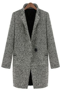 Standout Wool-blend One-button Coat - OASAP.com