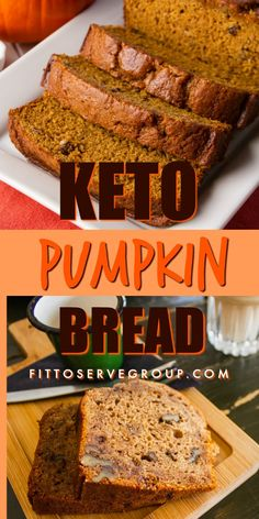 Ive always been a huge fan of autumn and all the pumpkin flavors that are wrapped up in it. However the high carbs in traditional pumpkin recipes make it out of the question for this girl. Thankfully this recipe for keto pumpkin bread allows you to enj Desserts Keto, Keto Friendly Desserts, Keto Snacks, Dessert Recipes, Keto Friendly Bread, Health Desserts, Lunch Recipes, Low Carb Bread, Low Carb Keto