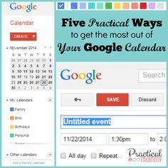 Five Practical Ways to get the most out of Your Google Calendar
