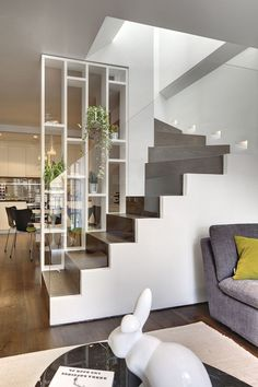 incríveis idéias modernas de design de interiores de paredes de vidro - home interior design - Escadas Glass Stairs Design, Glass Wall Design, Modern Staircase, Staircase Shelves, Craftsman Staircase, House Stairs, Modern Interior Design, Interior Stairs Design, Interior Designing