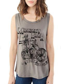 Boho Midnight Rider Motorcycle Vintage Tank Top - FREEBIRD