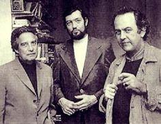 Octavio Paz, Julio Cortázar y Alberto Gironella. (1977).