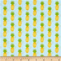 Riley Blake Fresh Market Pineapple Blue