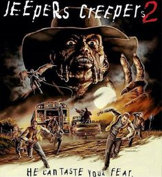 Horror Movie Poster Art : Jeepers Creepers by Justin Osbourn Jeepers Creepers, Horror Movie Posters, Horror Films, Horror Art, Horror Icons, Creepy Horror, Streaming Hd, Streaming Movies, Scary Movies