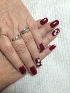 CND acrylic nails with gel polish.