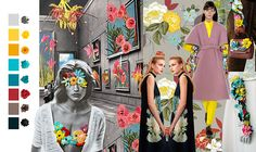 floral Layout, Fashion Graphic, Fashion Colours, Floral, Presentation, Fall Winter, Street Style, Painting, Fashion Trends