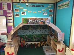 Our dinosaur museum role play area. #roleplay #roleplayarea #kasbah