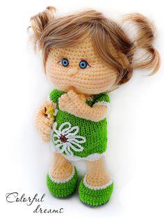 Crochet pattern Nina by DollPatternsShop on Etsy