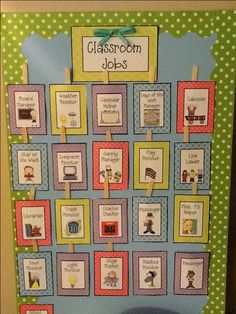 To prepare for the school year, create a classroom job board. This will give students the opportunity to be classroom helpers. This engages students in the classroom community. It also helps the teacher get things done during the day. Classroom Jobs Board, Classroom Helpers, Classroom Organisation, New Classroom, Classroom Setup, Classroom Design, Classroom Displays, Preschool Classroom, Classroom Management