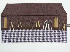 circular knitting needle case  double pointed by knitonebeadtwo, $24.00