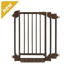 Richell Auto-Deluxe Pet Gate in Coffee Bean