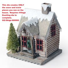 Sizzix - Bigz Die by Tim Holtz - Village Winter (requires Village Dwelling),$24.99