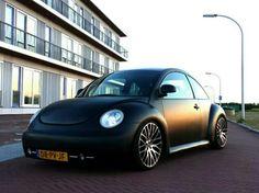 New Beetle matte black lowered