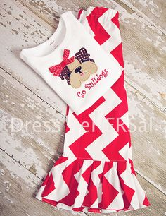Bo Bulldogs applique  t shirt by DressReHERSal on Etsy, $21.00