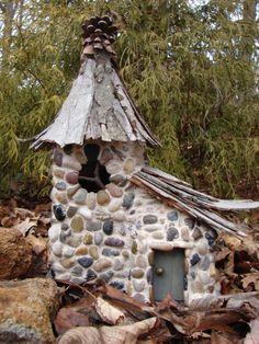 Pine Cone Stone Fairy Cottage