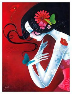 """Sybile Art """"un coeur de papillon"""""""