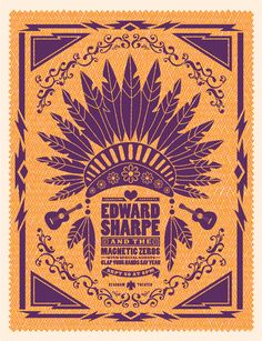 New Stuff / Edward Sharpe & The Magnetic Zeros poster / Lure Design, Inc. in Orlando FL