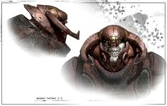 Boomer Helm by James Hawkins on ArtStation. Character Concept, Character Art, Concept Art, Character Design, Metal Gear, James Hawkins, Gears Of War 2, For The Horde, Shadowrun