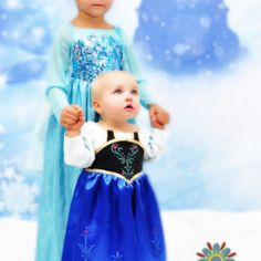 """Frozen Inspired Princess Party Dress, PDF Sewing Pattern for Infants and Girls size 12m to 12. """"Frozen Inspired"""""""