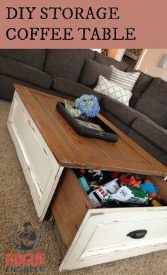 DIY Storage Coffee Table