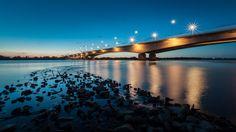 Grudziadz, Poland - motorway bridge near Grudziadz - the longest bridge in Poland, 1953 m.