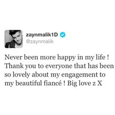 Congrats to Perrie and Zayn! I hope every day, your love only grows stronger <3