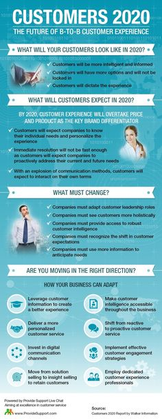 Customers 2020: The Future of B-to-B Customer Experience (Infographic) | Provide Support