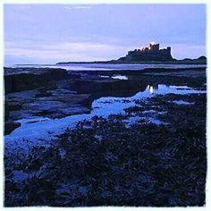 https://flic.kr/p/LhRB9V   #bamburgh #castle #beach #dawn #water #rock #bluehour #northumberland #northeast