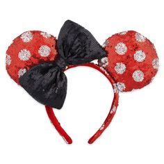 Disney Parks Minnie Mouse Sequined Ears Headband for Adults Polka Dot New Disney Mickey Ears, Minnie Mouse Bow, Disney Disney, Disney Style, Disney Cruise, Disney Magic, Disney Ears Headband, Ear Headbands, Disney Headbands
