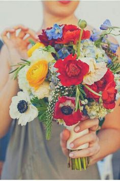 Wildflower bouquet, bridal boho bouquet