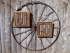 Reclaimed Barn Wood Wall Art with Old Workhorse Horseshoes, Barb Wire, by barbwireandbarnwood, $105.00