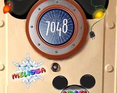CHRISTMAS Mickey ears Disney Cruise Door magnet custom designs by Alluna
