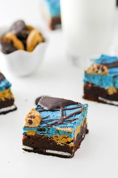 Cookie Monster Brownies is a brownie even Cookie Monster can't resist. And the kids'll love them, too!