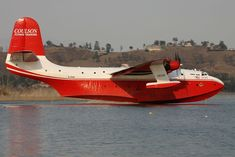 Martin Mars flying boat is now used as a water bomber to fight forest fires. This a huge plane that dates from the late WWII into the 1950s.