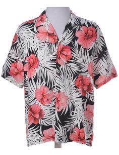 Hawaiian Shirt White With One Pocket