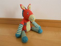 Ravelry: Zonkey Knitted Toy pattern by Cara Key • looks like an okapi to me!