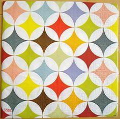 tissus et tapisseries aux formes geometriques