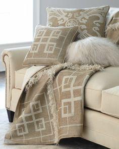 Neutral Pillows & Throw - Neiman Marcus