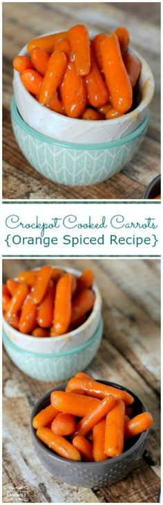 Crockpot Cooked Carrots Recipe! Easy Side Dish Healthy Recipe for Dinner!