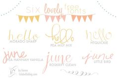 Six Lovely FREE fonts! -
