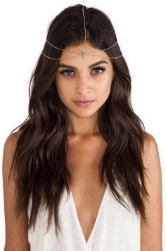 House of Harlow 1960 Hera Double Tiered Triangle Head Piece Cute Hairstyles, Wedding Hairstyles, Head Jewelry, Jewlery, Hair Jewellery, Festival Hair, Head Accessories, Look Chic, Revolve Clothing