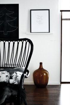 Styling by Johanna Pilfalk. STORSELE High-back armchair, black, rattan.