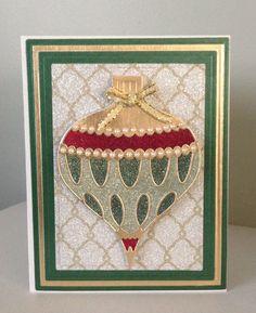 Christmas card with Glitter Ritz, Memory Box die and Spellbinders Nestabilities Card Creator