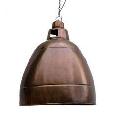 large-industrial-dome-copper-finish-pendant-light | interior-lighting | pendants - Lightworks Online