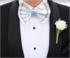 Whether you are going to prom, getting married, going to homecoming, or just dressing fly---this bow tie will definitely show off your baseball pride and snatch you lots of compliments.